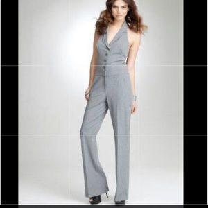 BeBe halter grey jumpsuit pant suit!